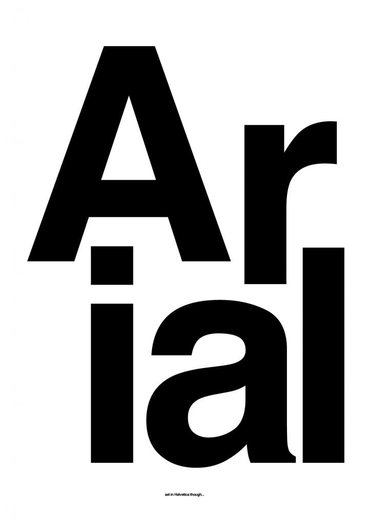 Hody Hong - Works - Arial… set in Helvetica: hodyhong.net/print/arial-set-in-helvetica